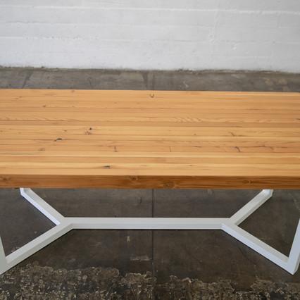 butcher block dining table set
