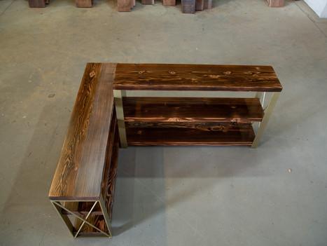 Reclaimed Wood & Steel Bookshelves - $2400