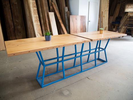 """""""The Kristi"""" Wood & Steel Restaurant Table - $2600"""