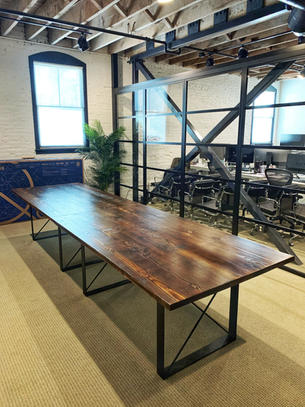 dark wood conference tables