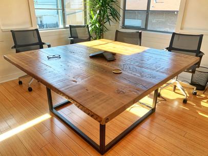 large square office computer desk