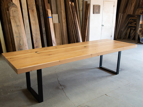 Long Reclaimed Butcher Block Dining Table - $2825