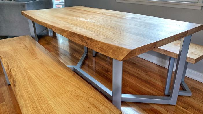 modern oak dining set