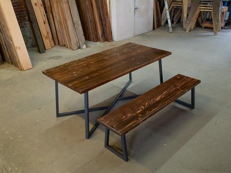 """Butcher Block Table w/ Grey """"Lauren"""" Base - $1750"""