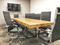 custom solid wood conference tables