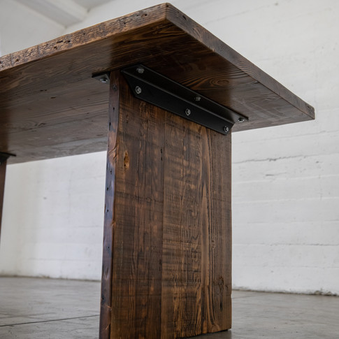all wood dining table handmade in los angeles