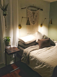 bedroom furniture side table and bed made in los angeles