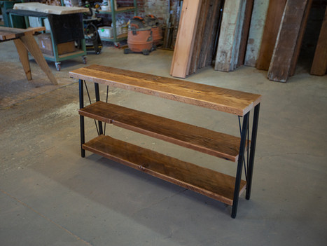 """The Brian"" Wood & Steel Low Bookshelf - $1450"