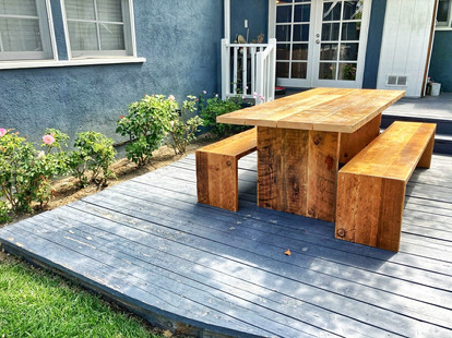outdoor dining set all wood