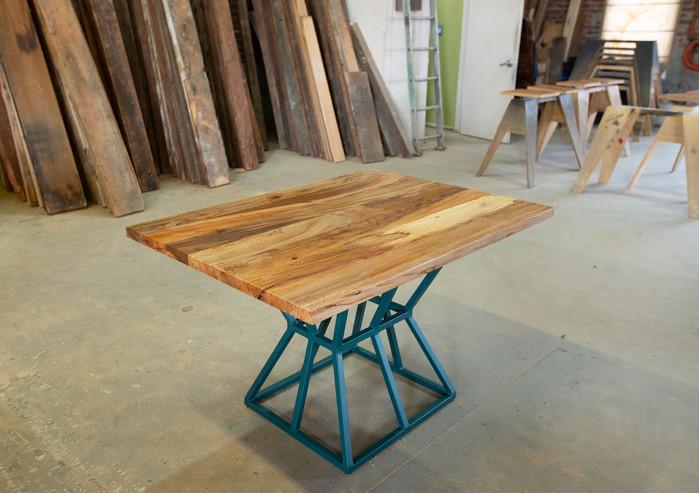 modern custom wood dining table