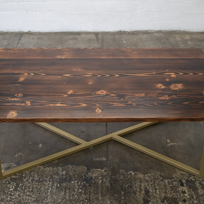 rustic reclaimed wood modern dining table