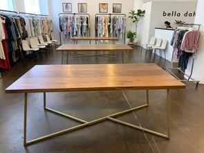 modern hardwood display table