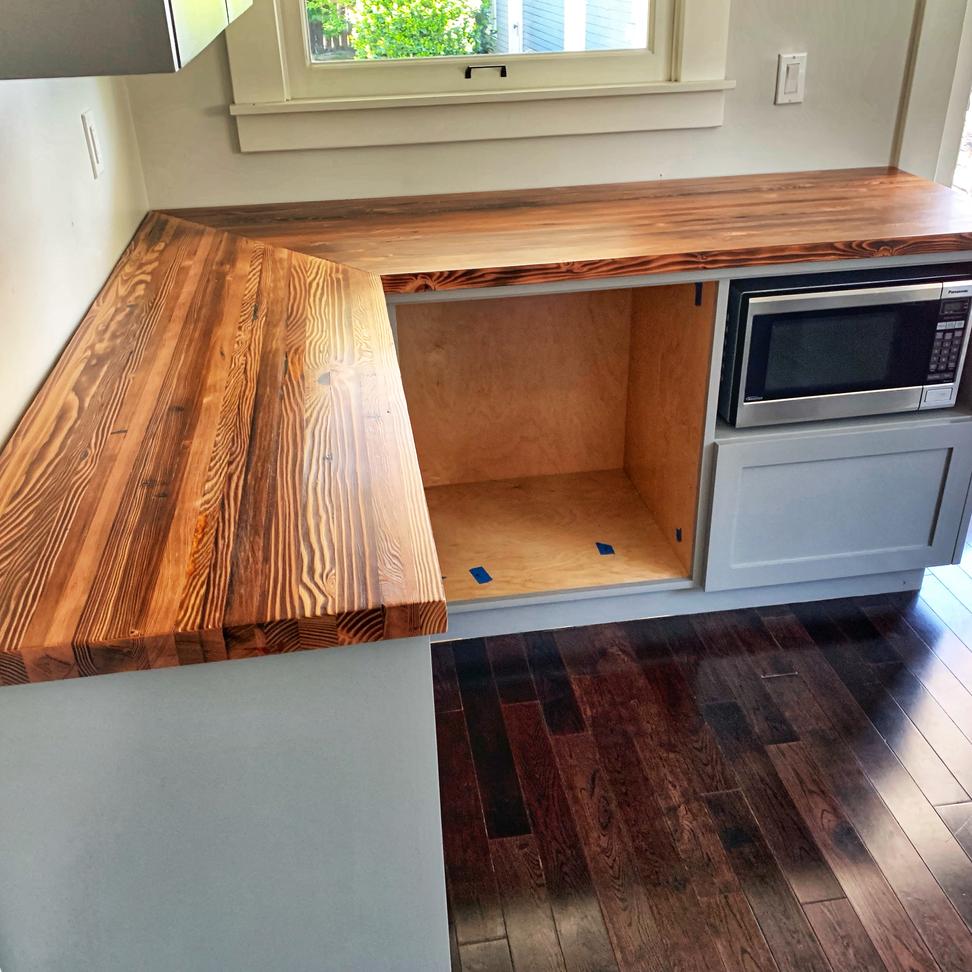 corner wood counter tops