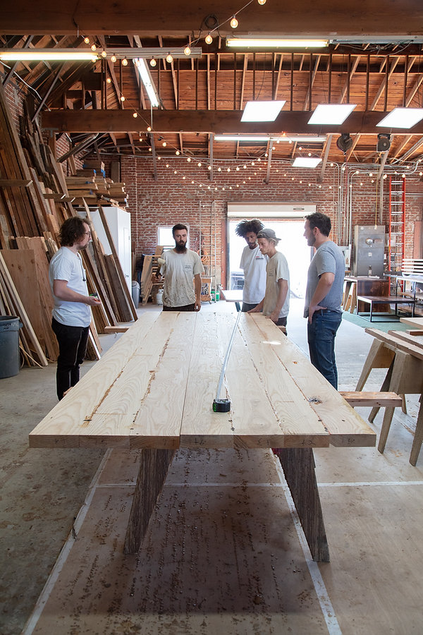 reclaimed wood farmhouse tables in los angeles