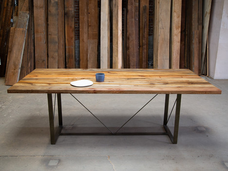 """""""The Yoon"""" Sycamore & Gold Dining Table - $3350"""