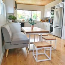modern oak dinging table set