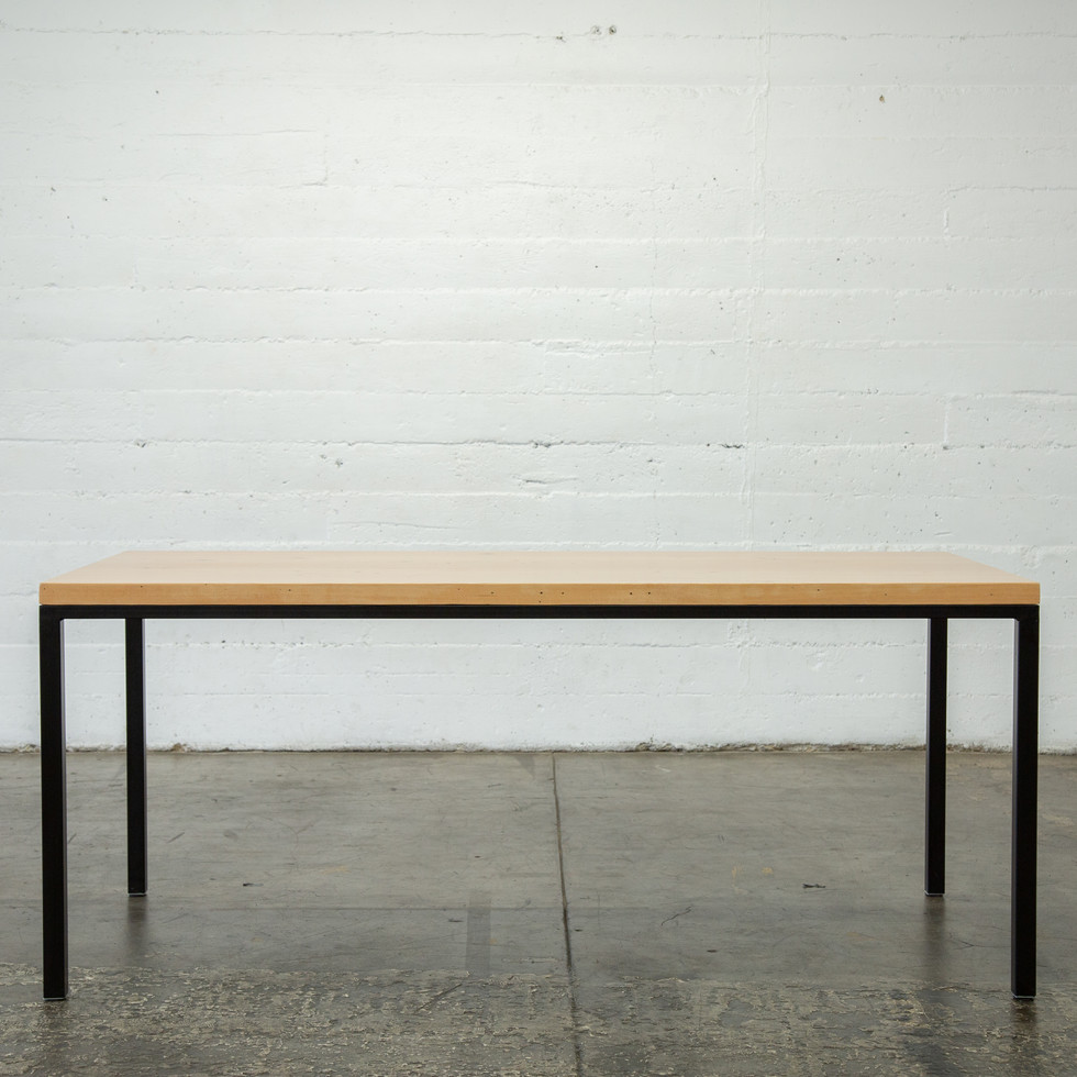 parsons solid wood dining table handmade in los angeles