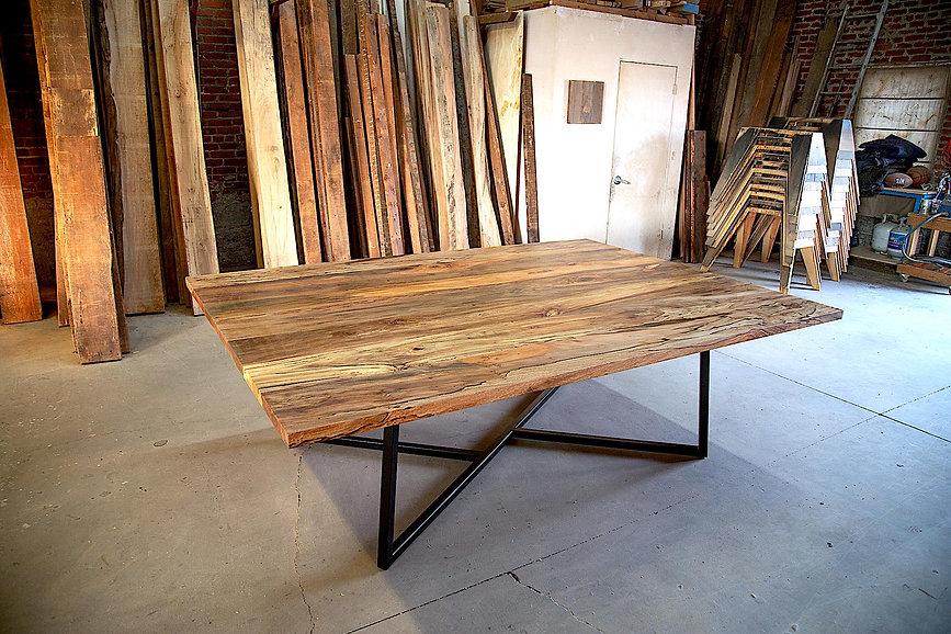 handmade hardwood dining tables