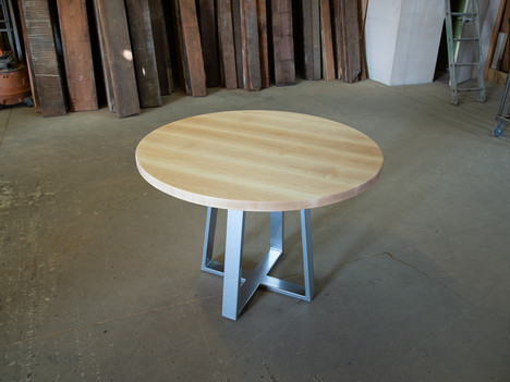 Round Maple Table with Pedestal Base - $1750