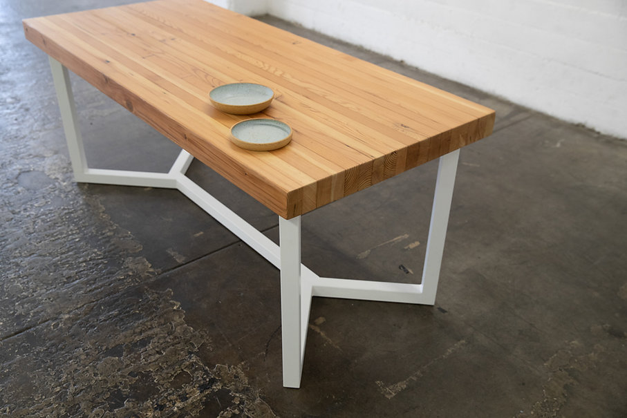 rustic modern dining table set los angeles
