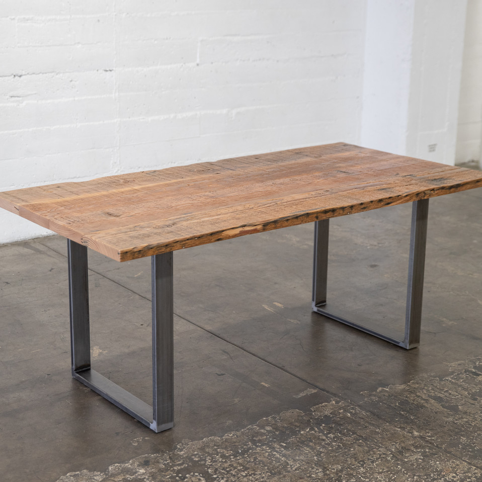 hand made dining table reclaimed wood