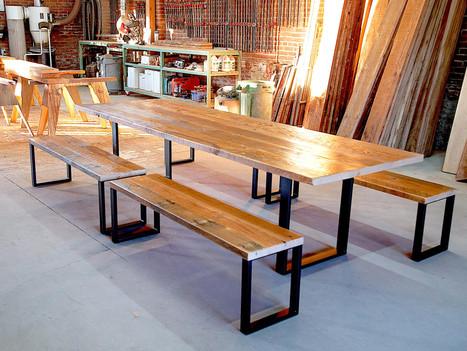 "Long Table w/ Black ""Geraldine"" Base - $2750"