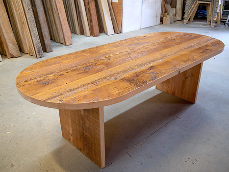 """Reclaimed Oval """"Monolith"""" Dining Table - $2750"""
