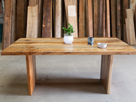 Naturally Fallen Sycamore Dining Table - $3350