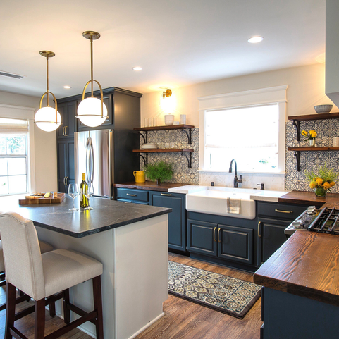 custom wood kitchen countertops