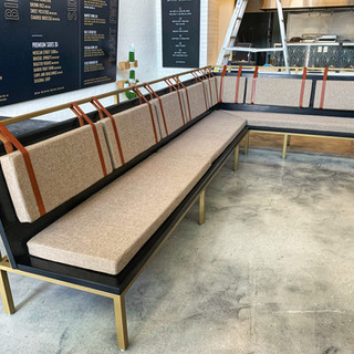 upolstered bench made in los angeles