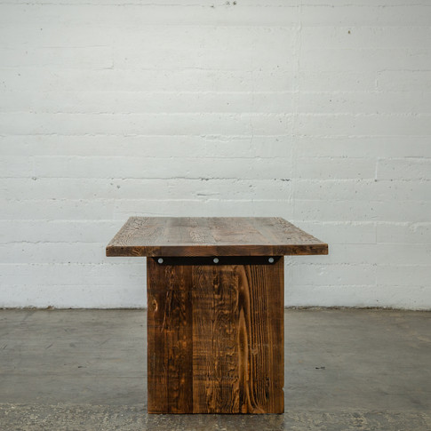 rustic wood farmhouse dining table