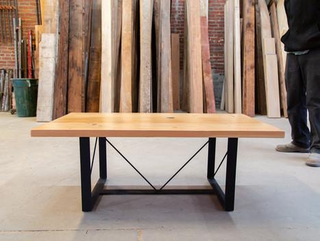 """The Matty Mo"" Coffee Table w/ Light Wood - $925"