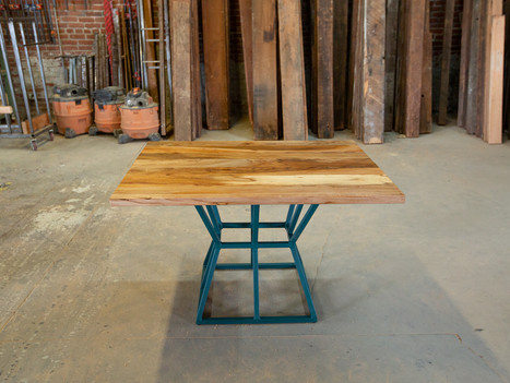 Sycamore & Steel Pedestal Kitchen Table - $1650