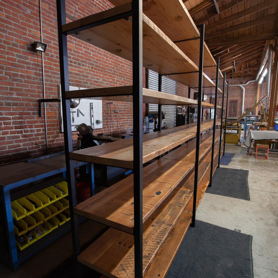 custom commercial shelves