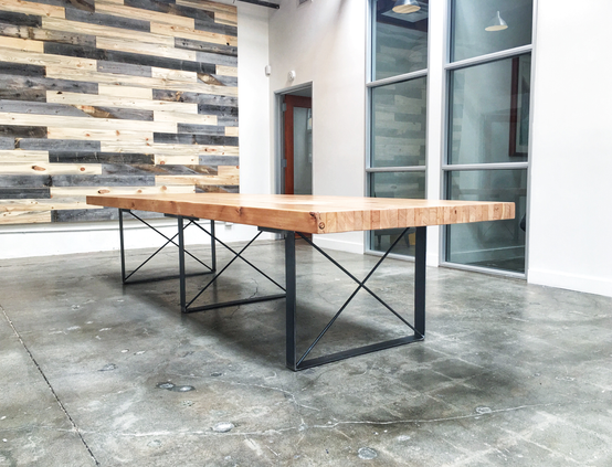 large butcher block conference office table