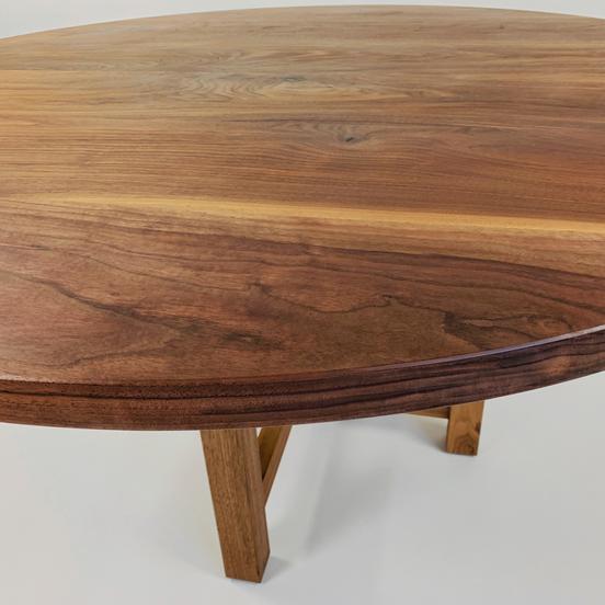 round walnut kitchen dining table