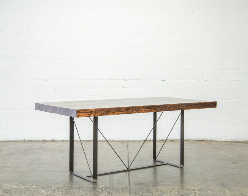 modern butcher block dining table