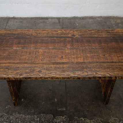 dark reclaimed wood farmhouse table