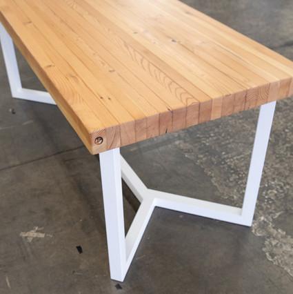 modern butcher block kitchen table