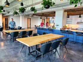 oak common area office table
