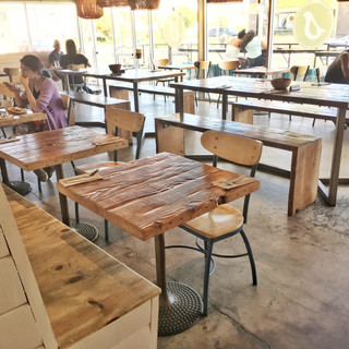 rustic reasturaunt table tops
