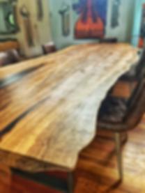 Live edge slab dining table handmade