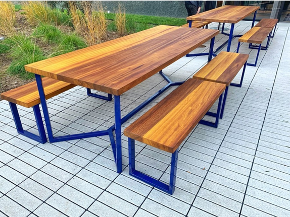 modern wood outdoor table