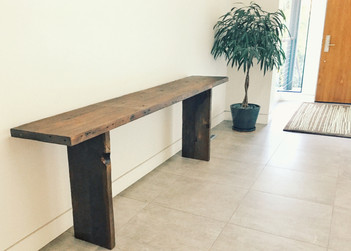 modern narrow console table