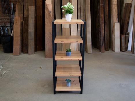 """""""The RicRoks"""" Wood & Steel Bookshelf - $2000"""