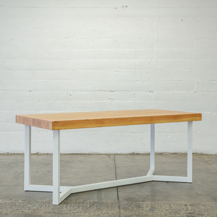 modern butcher block table