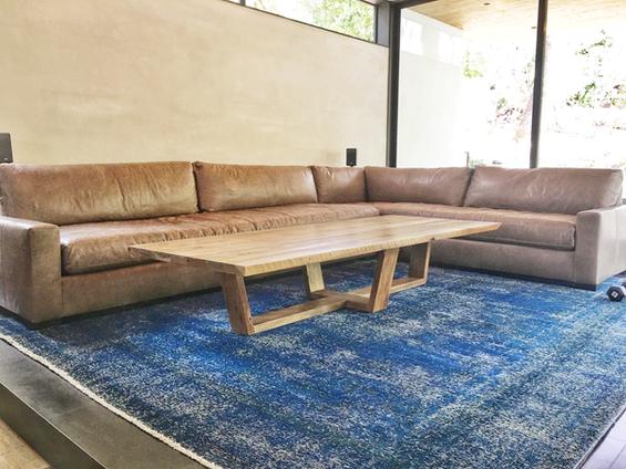 mid century modern wood coffee table