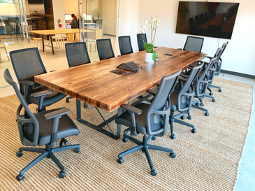 butcher block conference table