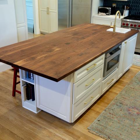 modern walnut wood countertops