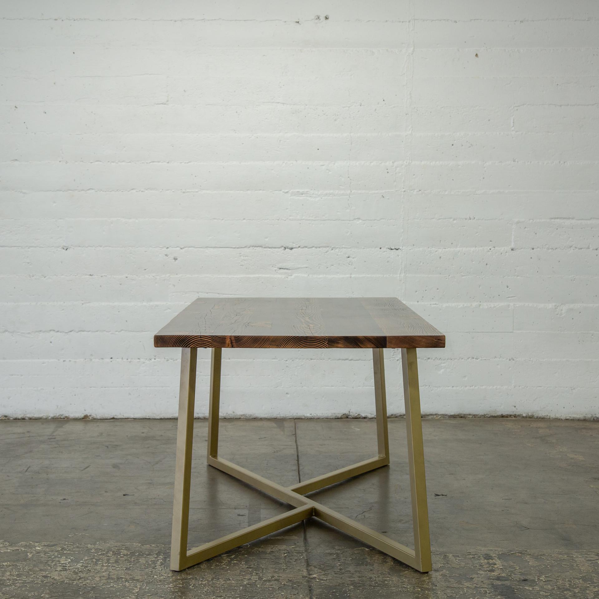 hand made modern wood table